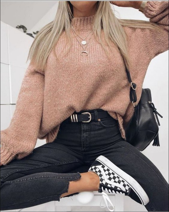 50+ checkered vans casual autumn outfit, winter outfit, style, outfit inspiration 46
