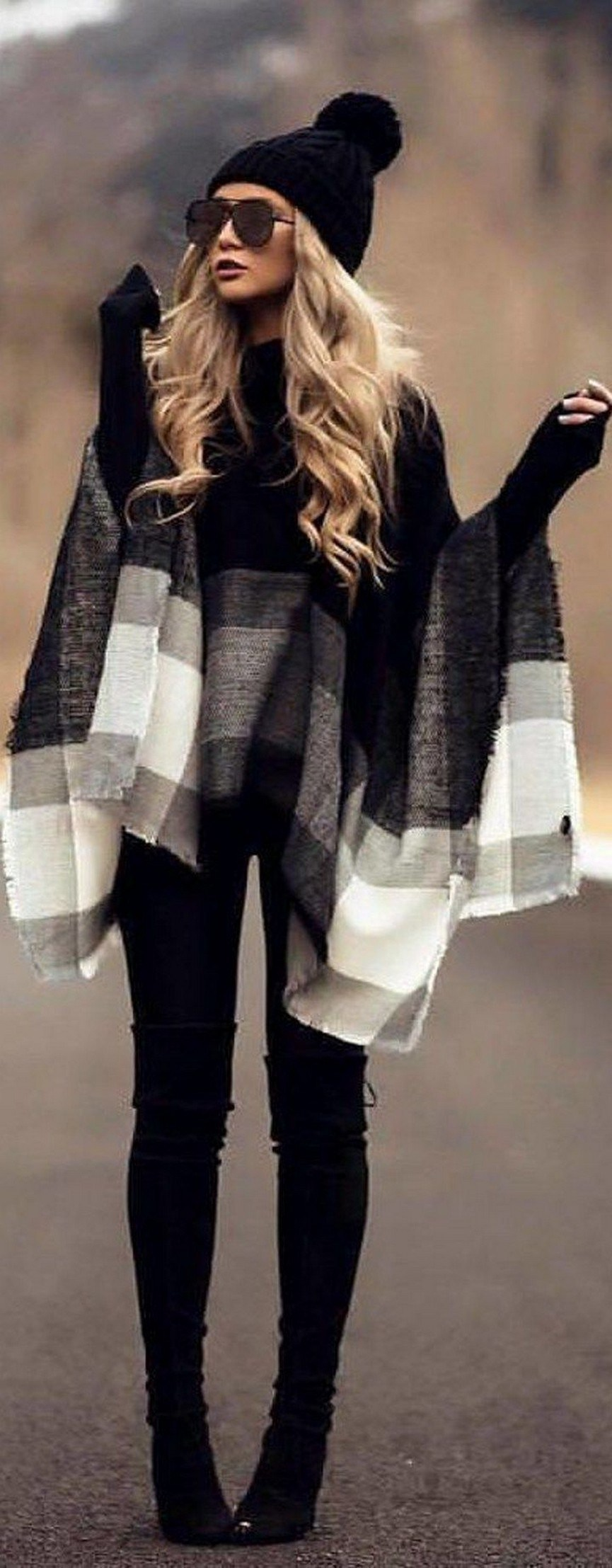 27+ trendy winter outfit with cape 28