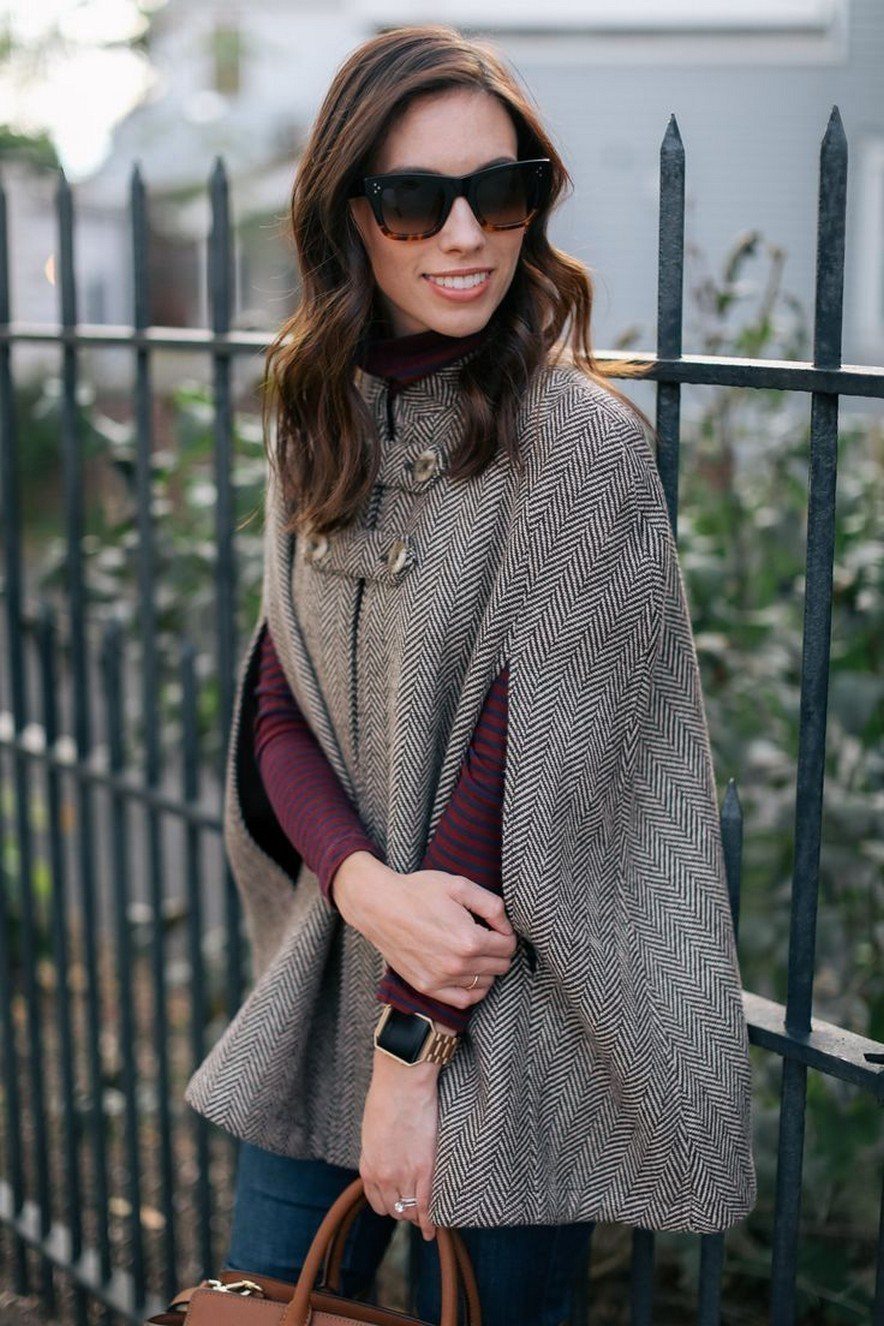 27+ trendy winter outfit with cape 16